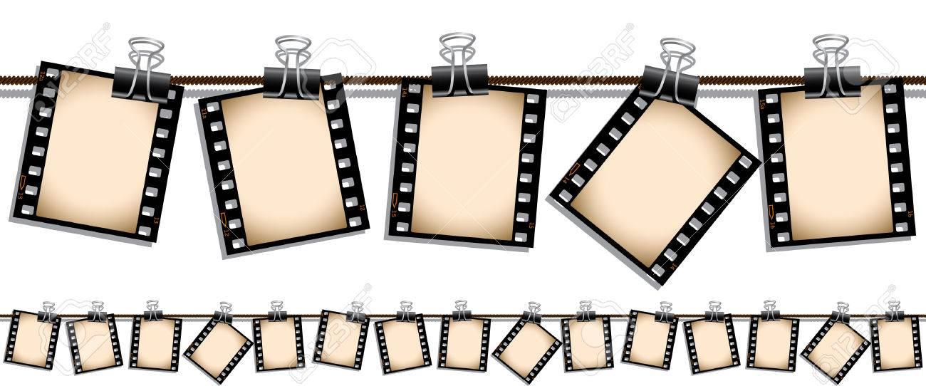 Seamless film strip illustration Stock Vector - 6622037