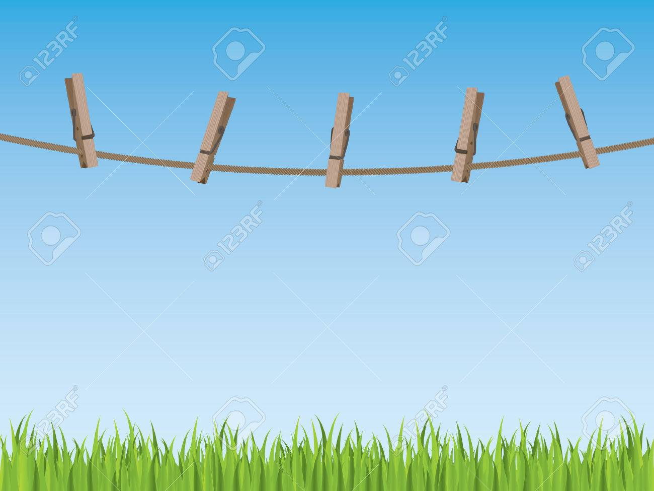 Clothes line background Stock Vector - 6726605