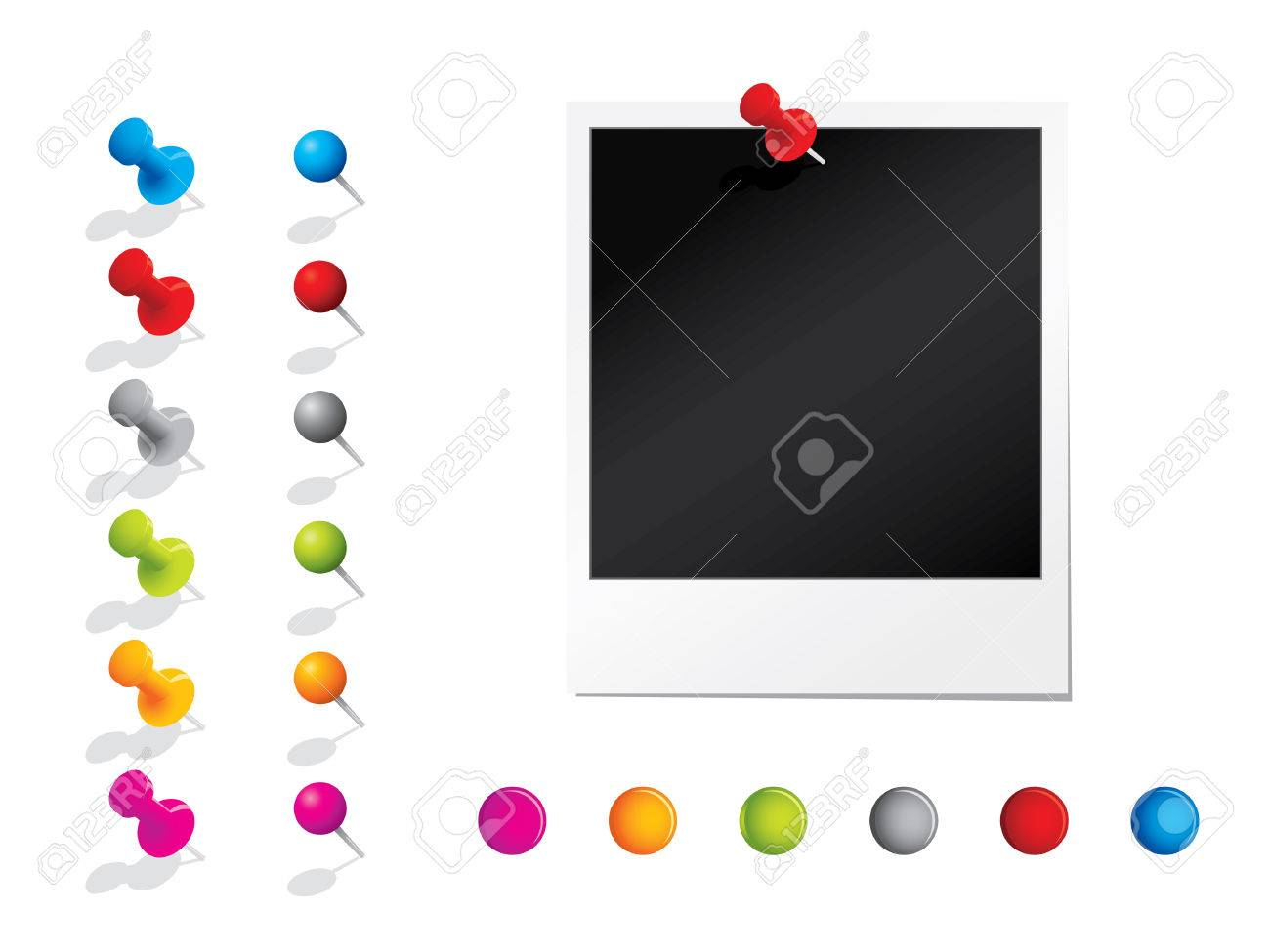 Photograph with pins Stock Vector - 6872832