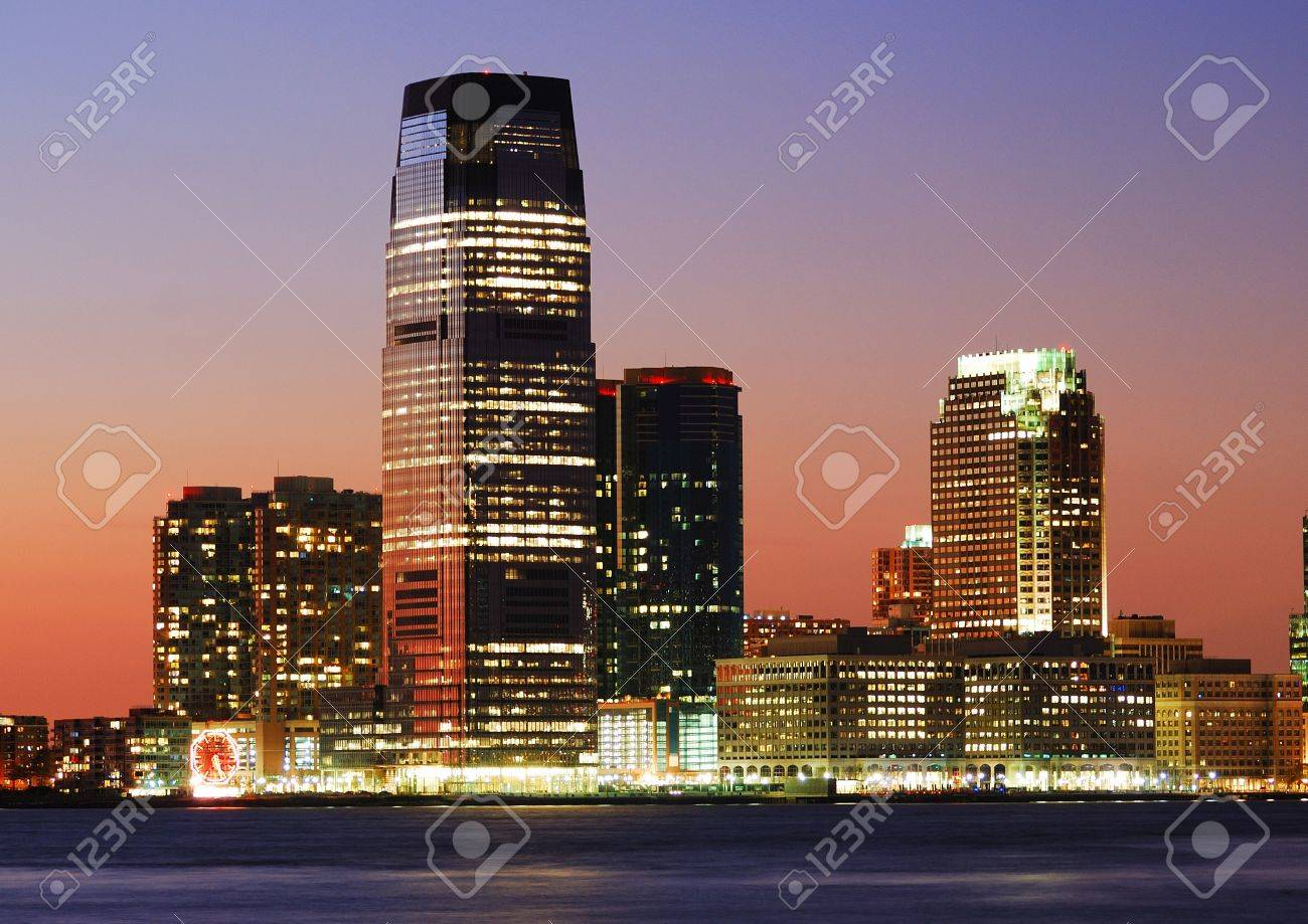 JERSEY CITY   AUG 8: Goldman Sachs Tower, With 42 Floors And 781 Feet