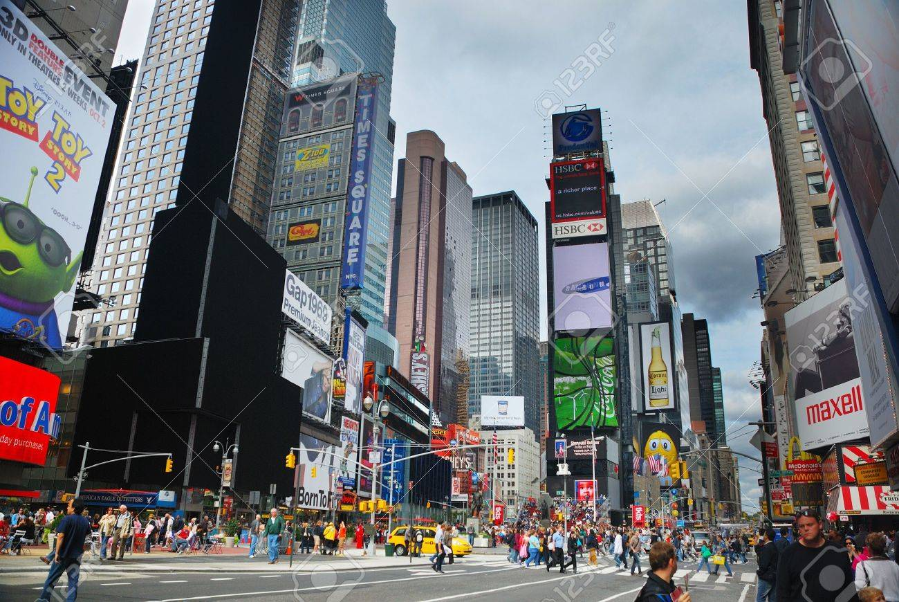 NEW YORK CITY - SEP 5: Times Square, featured with Broadway Theaters and huge number of LED signs, is a symbol of New York City and the United States, September 5, 2009 in Manhattan, New York City. Stock Photo - 9475518