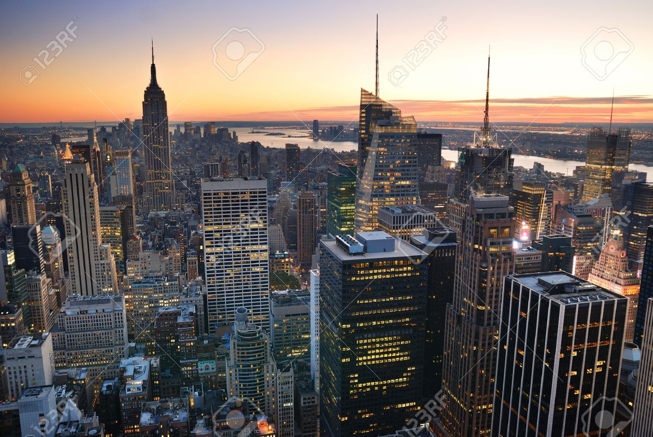 Aerial View Of Empire State Building Picture