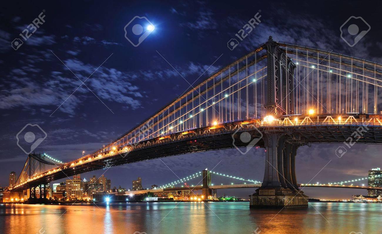ブルックリン橋とマンハッタン橋...