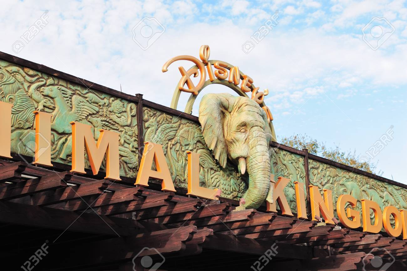 ORLANDO, FL - FEB 13: Park Entrace on February 13, 2012 in Orlando, Florida. Animal Kingdom is the largest single Disney theme park in the world covering more than 500 acres. Stock Photo - 13021451