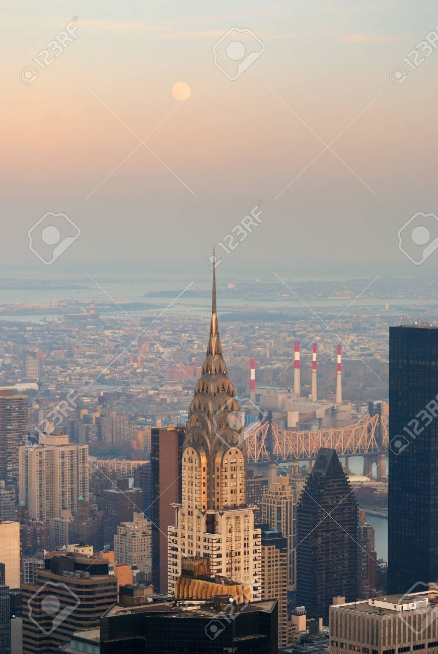 new york city ny nov 20 the chrysler building is an art deco