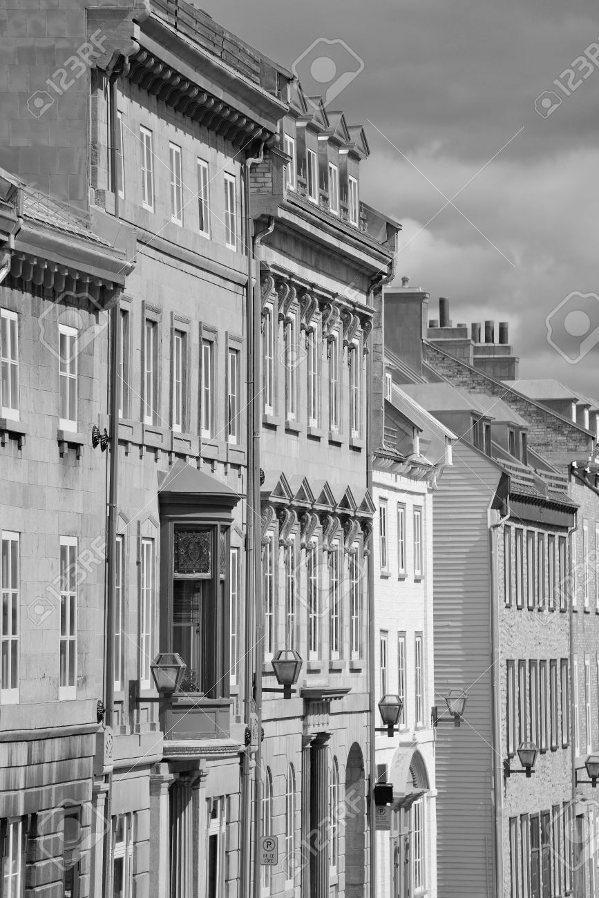 famous architectural buildings black and white. Perfect Architectural Old Buildings In Quebec City Black And White Stock Photo  18048102 Intended Famous Architectural Buildings Black And White