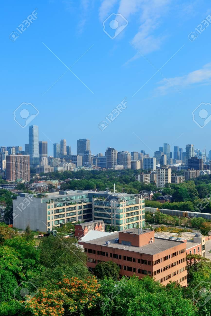 Toronto city skyline view with park and urban buildings Stock Photo - 18041661