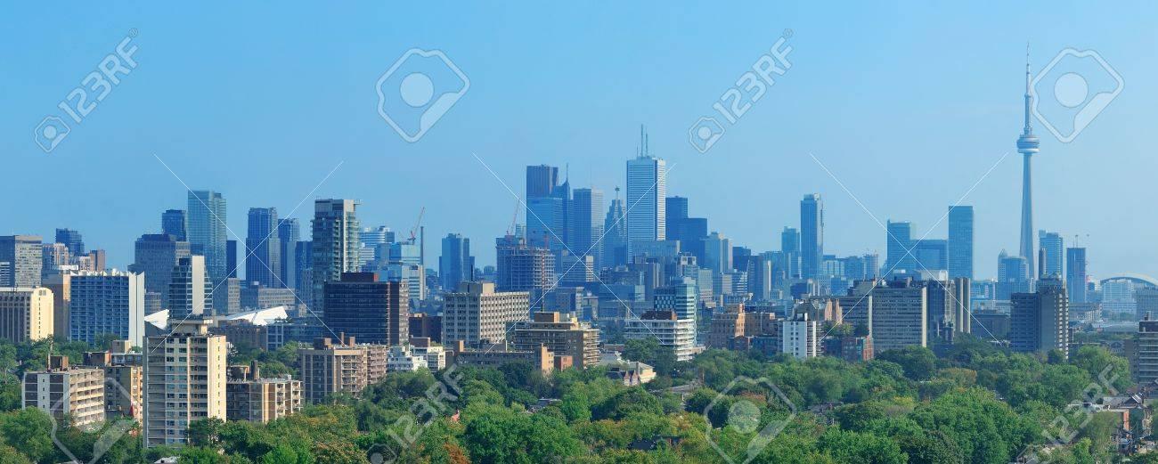 Toronto skyline panorama with urban architecture and blue sky Stock Photo - 20108581