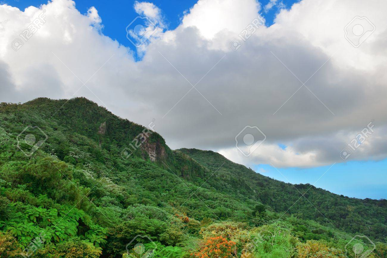 Mountain With Cloud In San Juan Puerto Rico Stock Photo Picture And Royalty Free Image Image 20600799