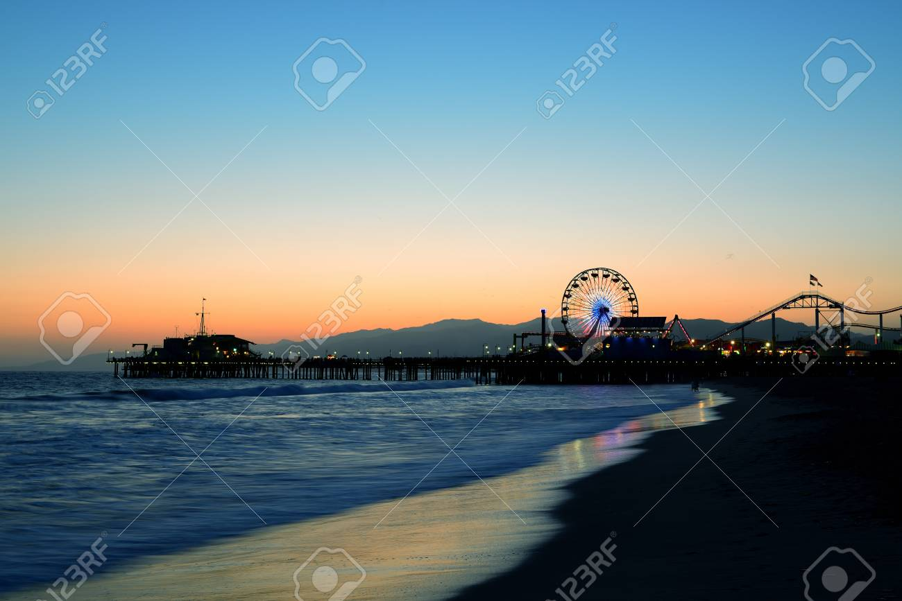 Santa Monica Pier On Beach In Los Angeles Stock Photo, Picture And on san franscisco beach, new york beach, downtown los angeles, malibu beach, isla mujeres beach, dublin beach, santa monica, marina del rey, dubai beach, california beach, santa monica beach, san bernardino beach, paris beach, la jolla beach, southern california, galveston beach, singapore beach, cancun beach, rio beach, san diego beach, newport beach, muscle beach, long beach, santa cruz beach, hollywood boulevard, hollywood walk of fame, los angeles county, chicago beach, santa monica pier, griffith observatory, hollywood sign, l.a beach, london beach, beverly hills, sunset boulevard,