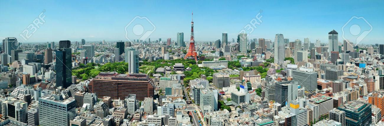 Tokyo Tower and urban skyline rooftop view, Japan. - 37867133
