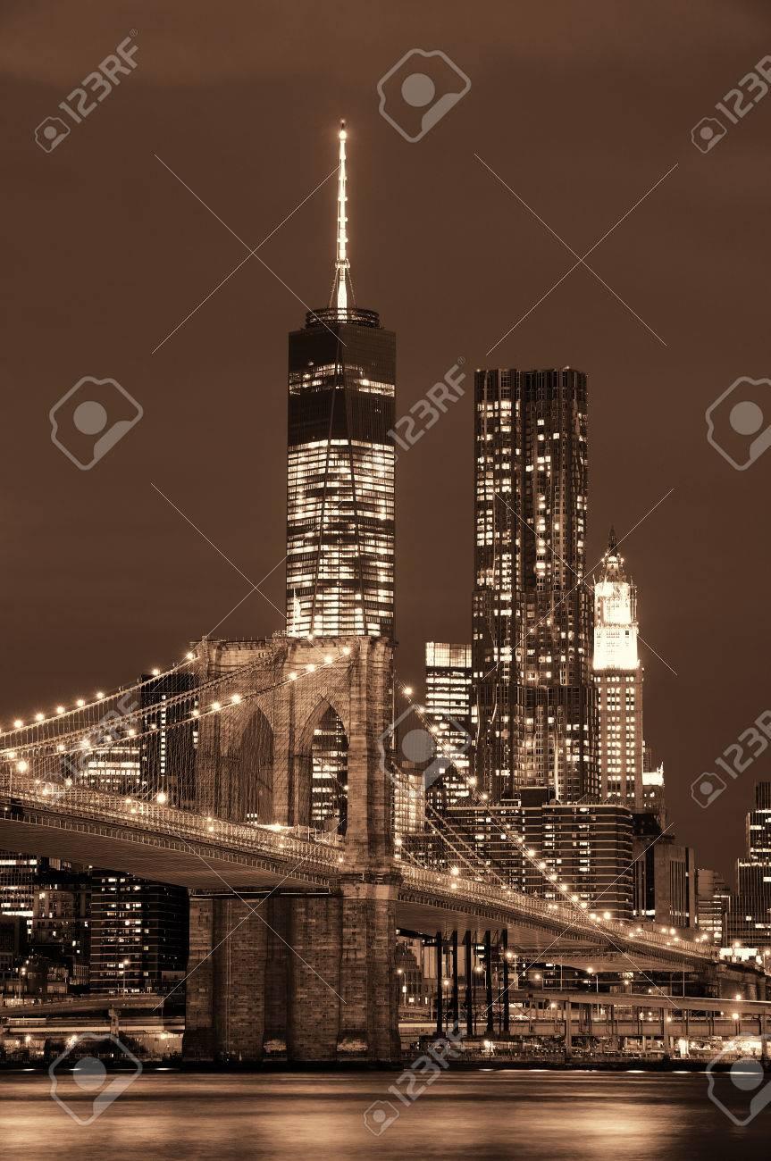 Manhattan Downtown architecture night view - 39723864