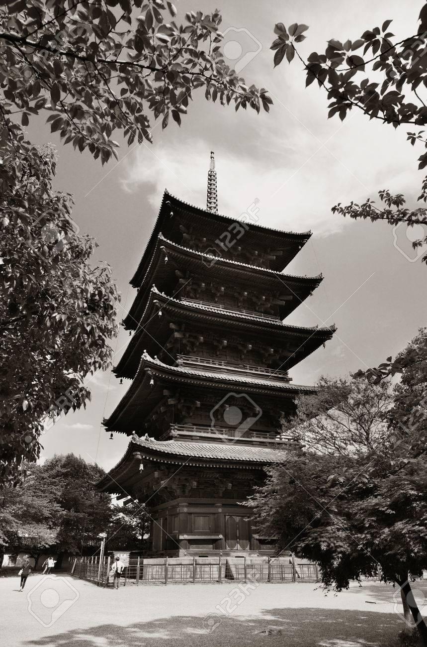 歴史的建造物、京都、日本庭園、東寺。 写真素材 , 49287568