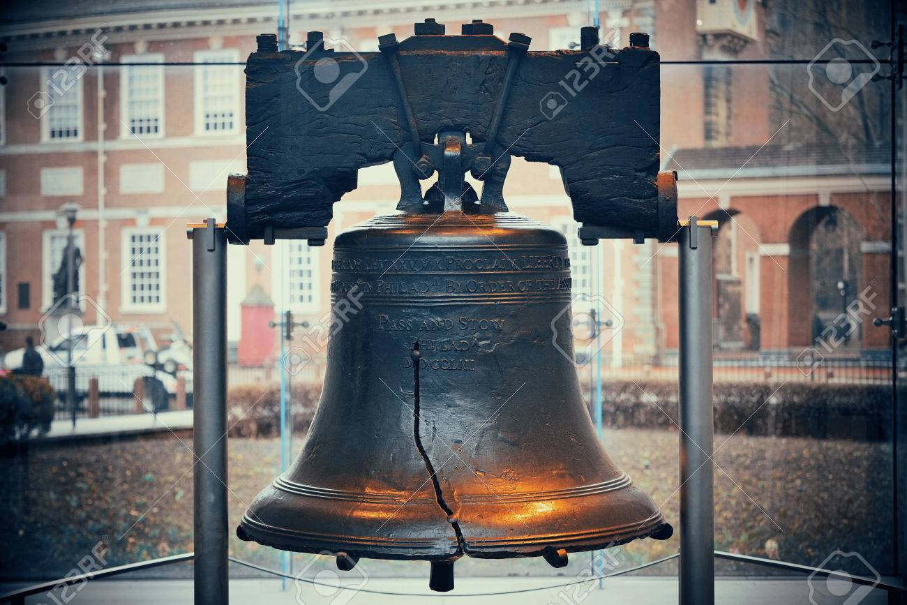 Liberty Bell and Independence Hall in Philadelphia - 55341651