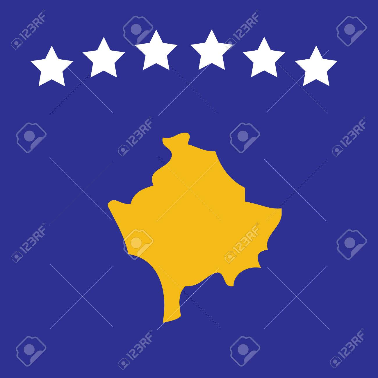 Vector image of the new Kosovan flag Stock Vector - 2558160