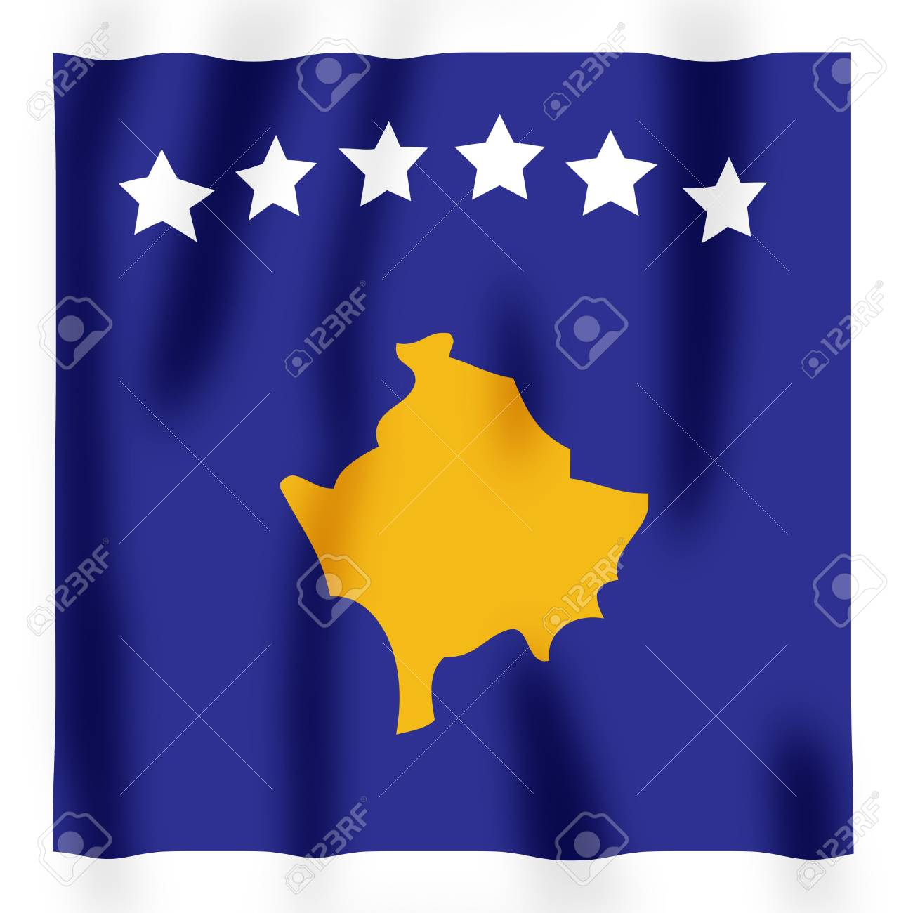 Rippled image of the new Kosovan flag Stock Photo - 2564021
