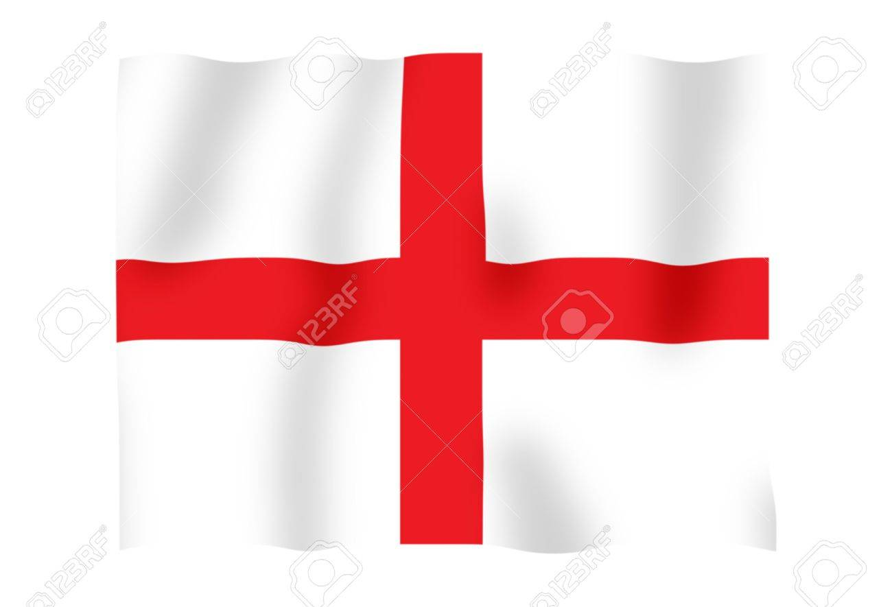 Fluttering image of the English national flag Stock Photo - 2606615