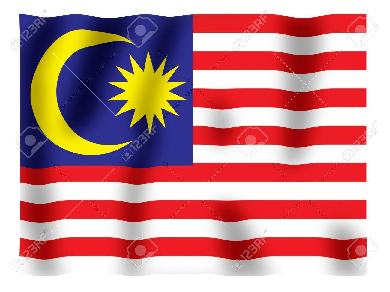 Fluttering image of the Malaysian national flag Stock Photo - 2614449