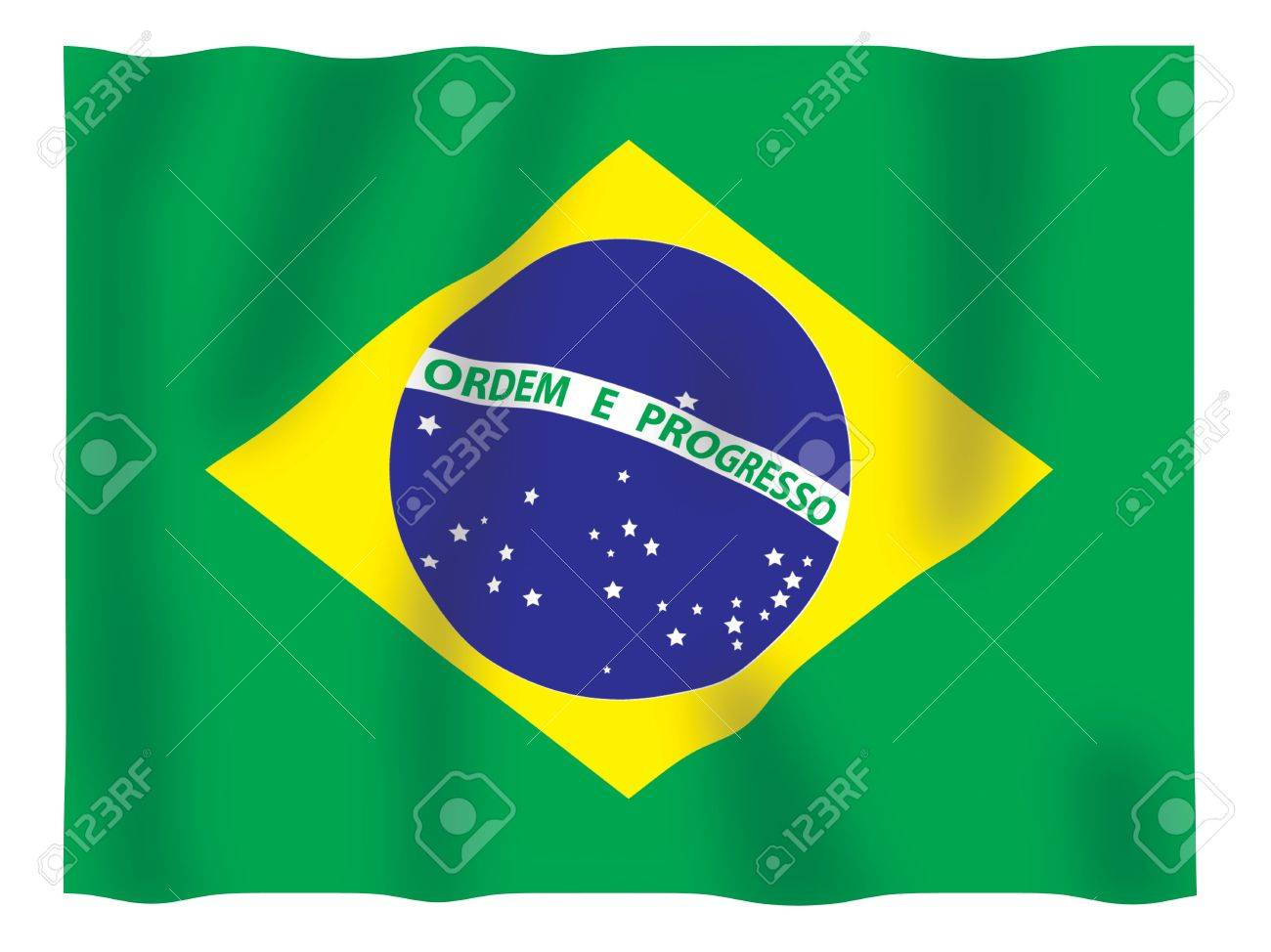 Fluttering image of the Brazilian national flag Stock Photo - 2626061