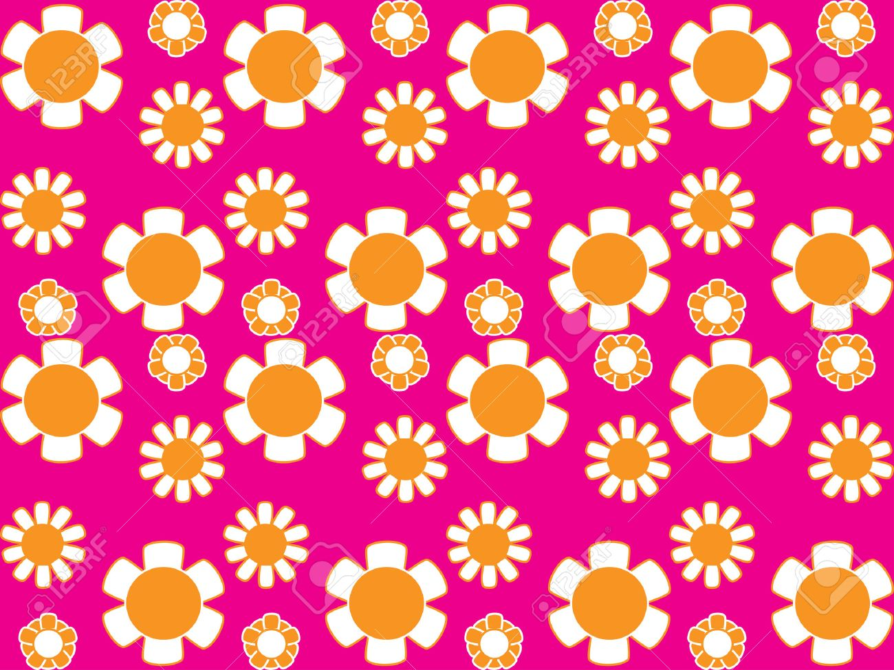 Vector image of 70s wallpaper - repeatable pattern Stock Vector - 2638177