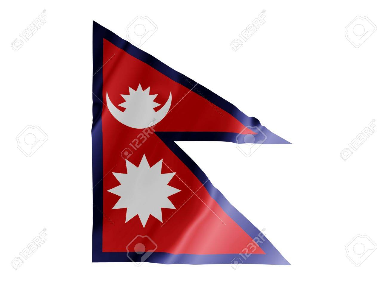 Fluttering image of the Nepalese national flag Stock Photo - 2638172