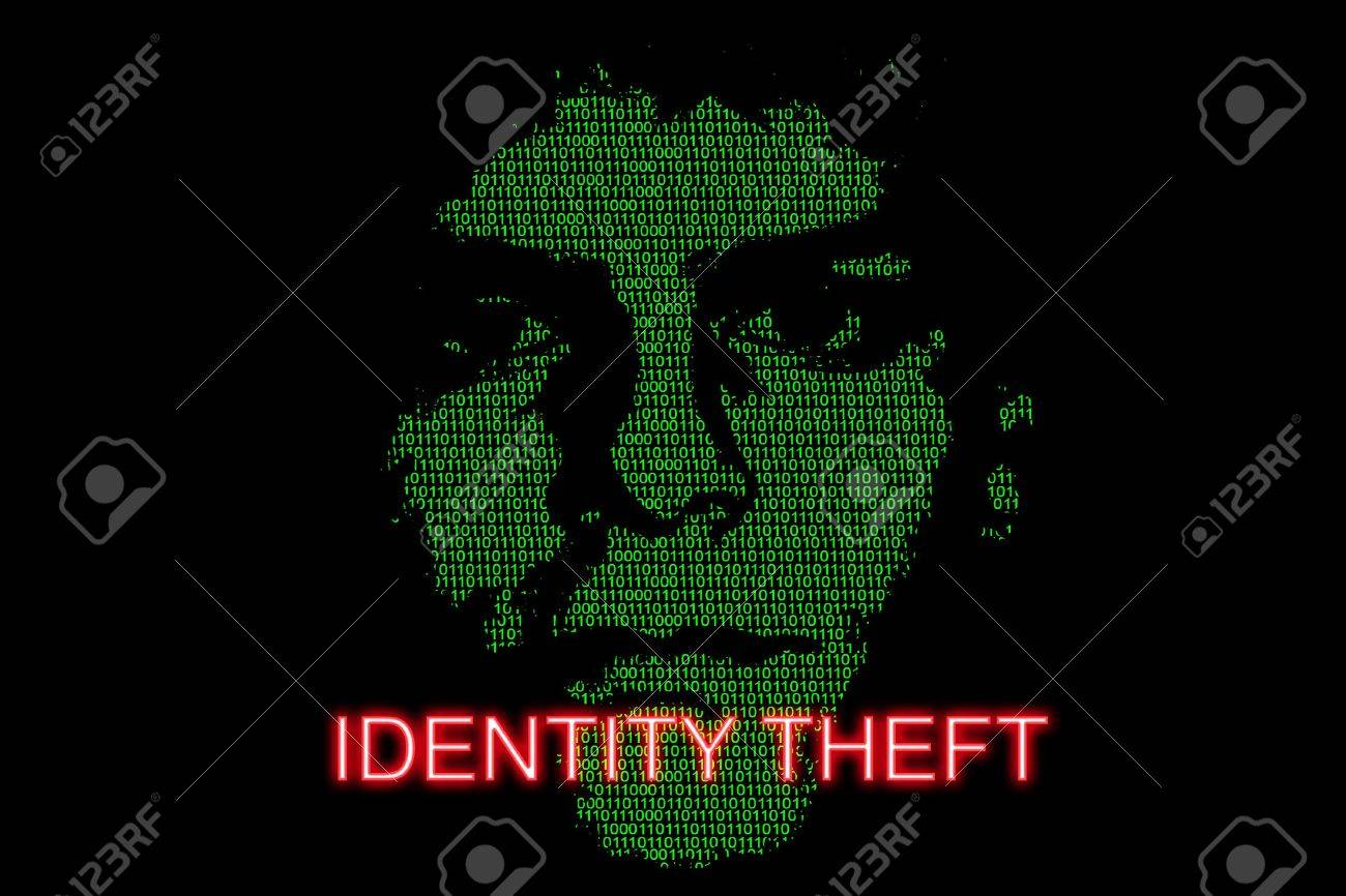 Concept image highlighting the risk of identity theft Stock Photo - 2689355