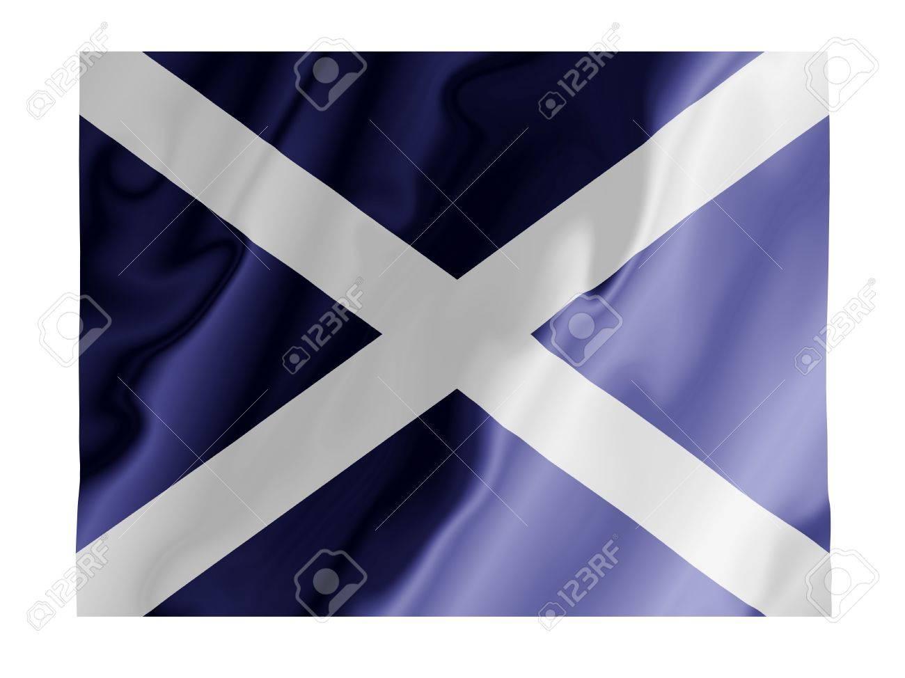 Fluttering image of the Scottish national flag Stock Photo - 2767361