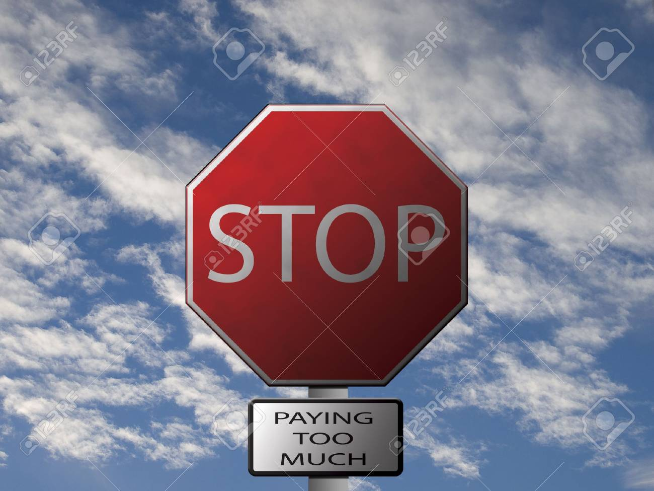 Constructed Stop Sign image displaying Stock Photo - 4986983