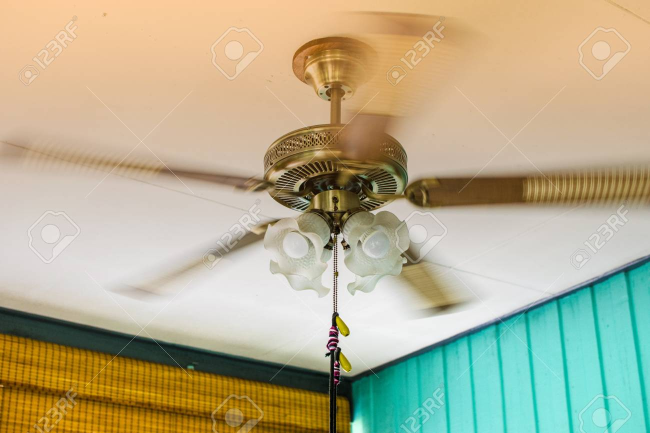 Ceiling fan models with light bulbs rotating on the ceiling stock ceiling fan models with light bulbs rotating on the ceiling stock photo 97889779 aloadofball Image collections