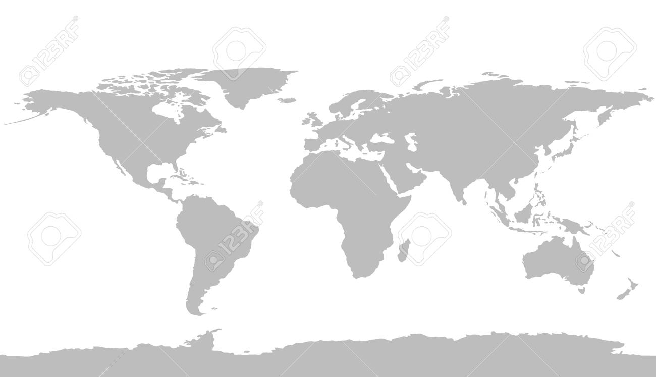 Vector World Map Element Furnished By Nasa Royalty Free Cliparts