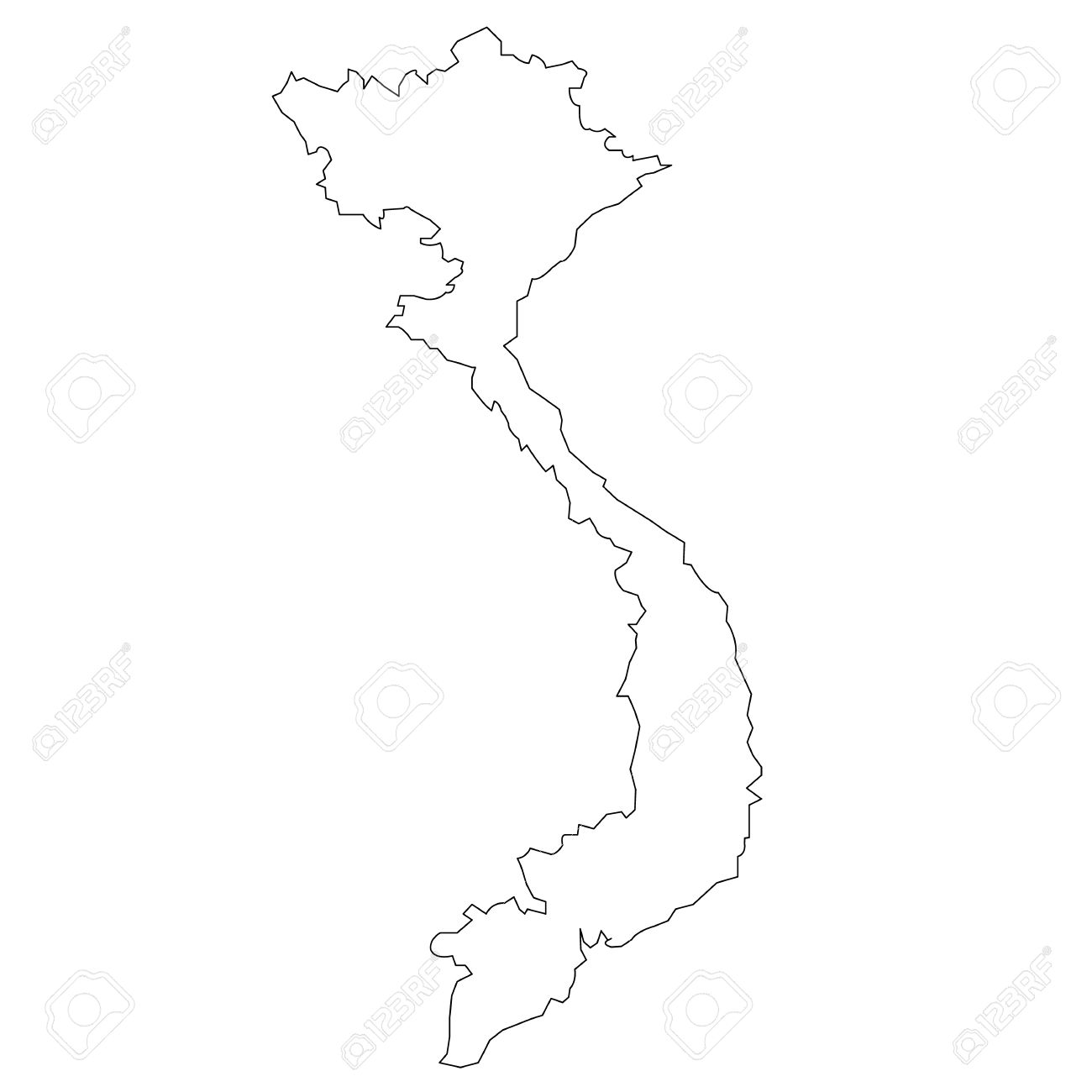 Vector Map Of Vietnam Royalty Free Cliparts Vectors And Stock - Vietnam map outline