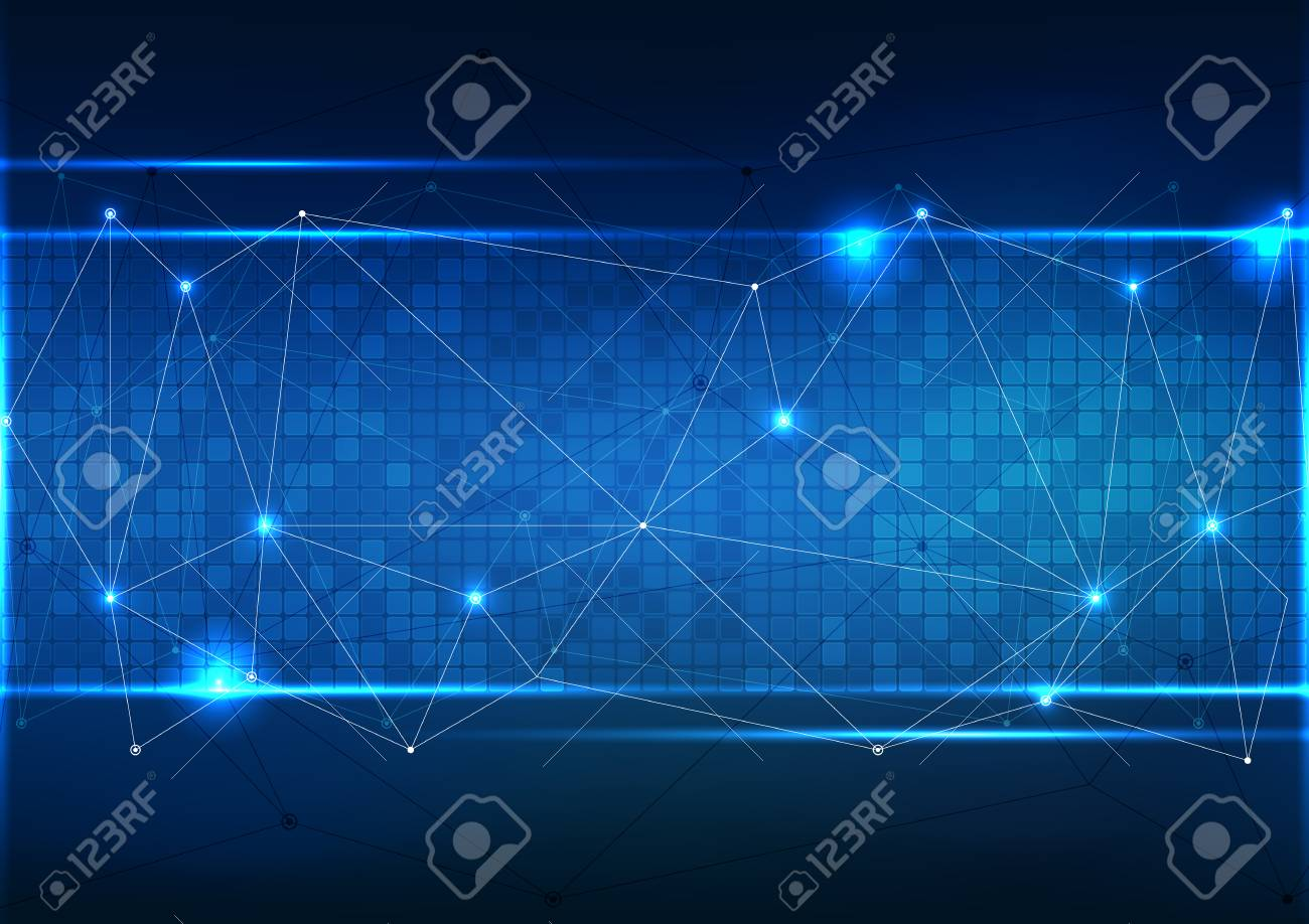 Vector polygon background abstract technology communication data Science. - 85343808