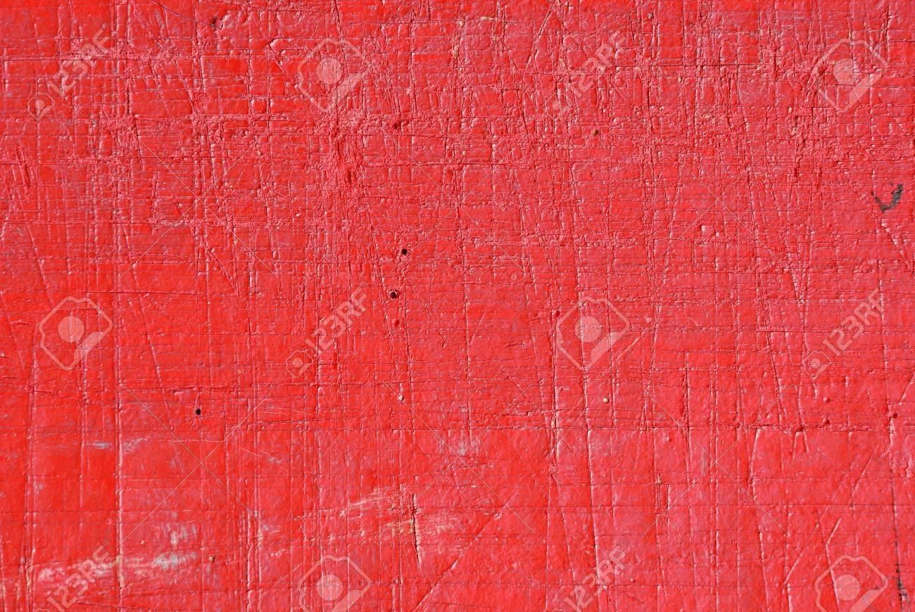 Red Painted Scratch Wood Texture Stock Photo