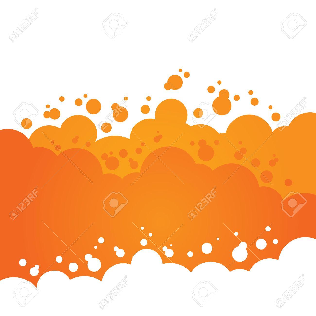 Orange Bubbly Background - 38109287