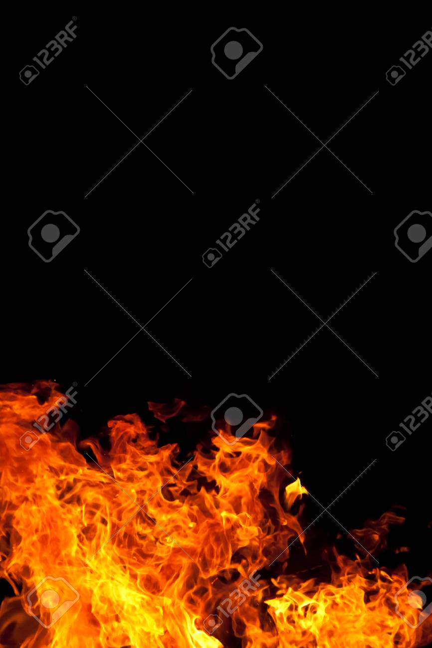 a fire against a black backgound Stock Photo - 14627979