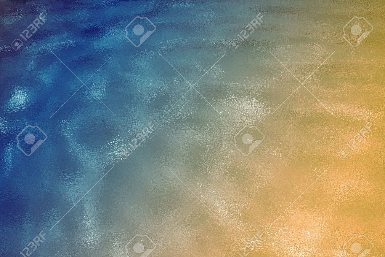 a blue and golden textured background Stock Photo - 14917609