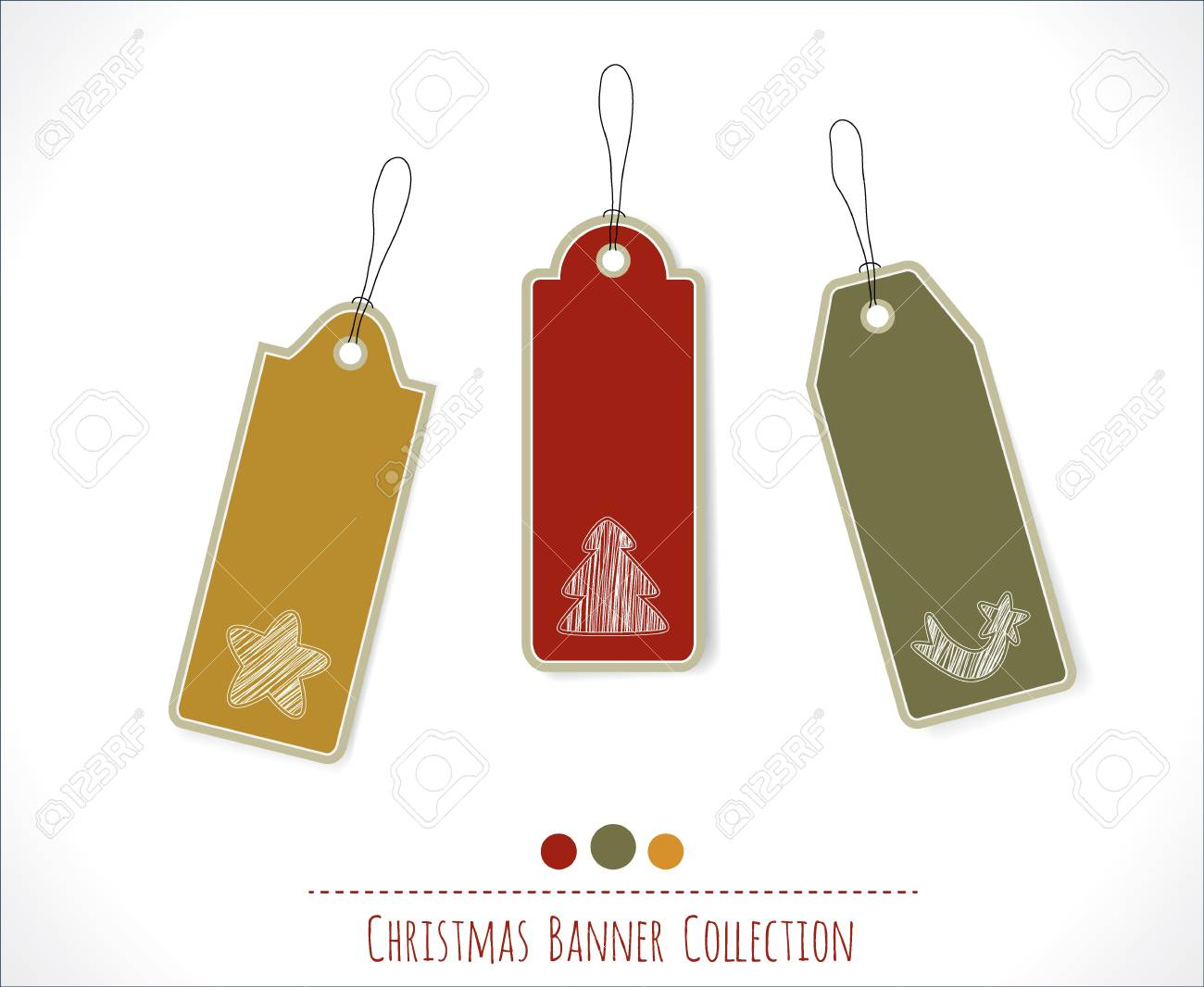 Christmas banner collection Stock Vector - 16082463