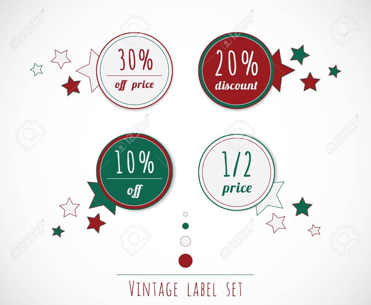 Sale vintage label set Stock Vector - 16082465
