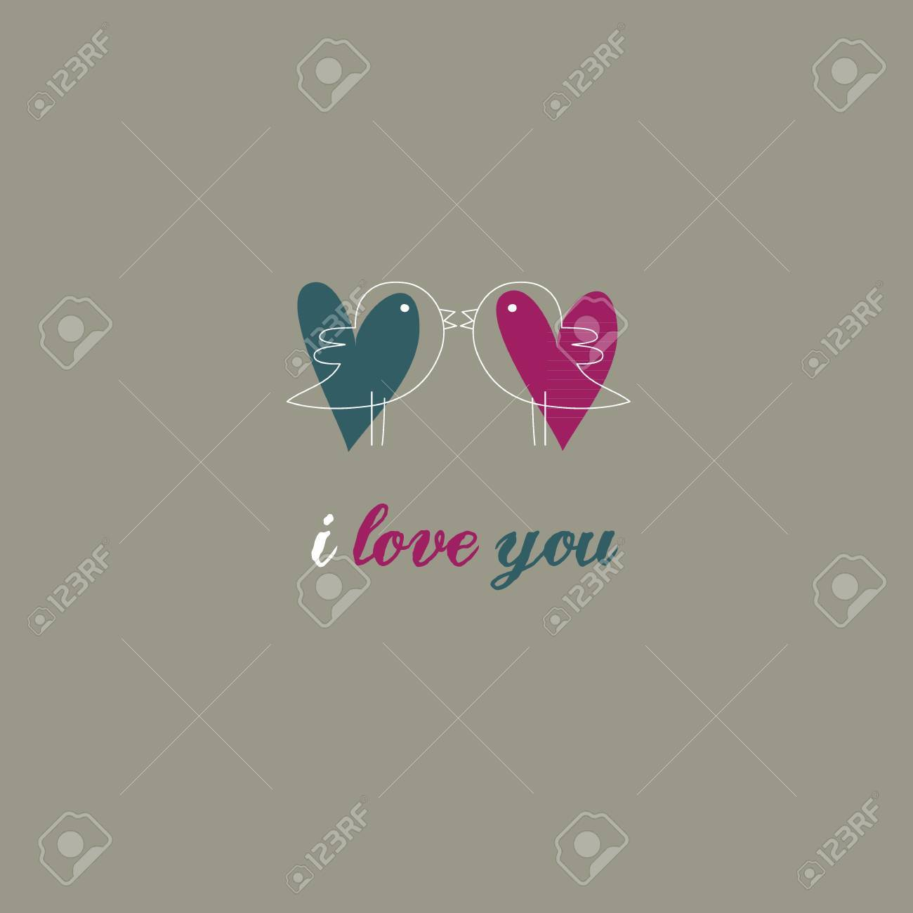 Valentine Love Background Collection Stock Vector - 16435305