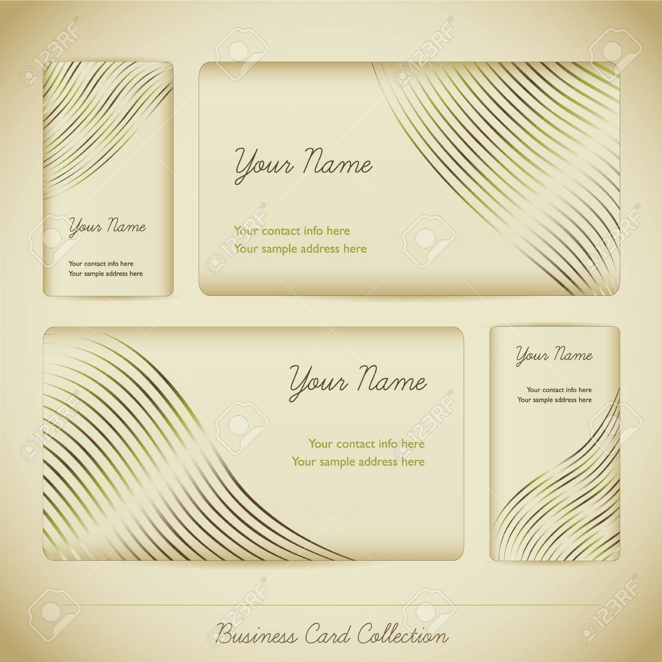 Business Card Collection Stock Vector - 17243113