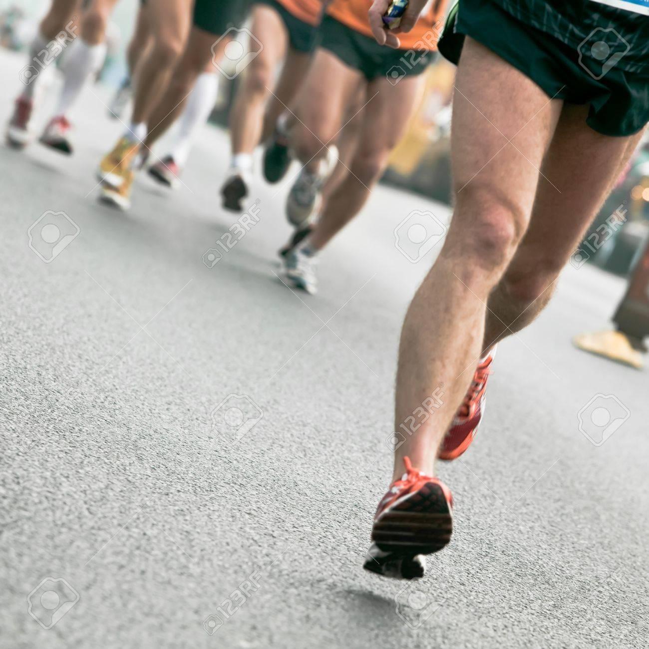 People running in city marathon Stock Photo - 7823625