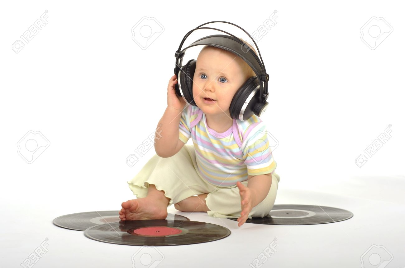 sweet little dj stock photo, picture and royalty free image. image