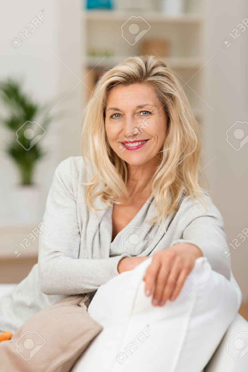 Attractive middle aged woman