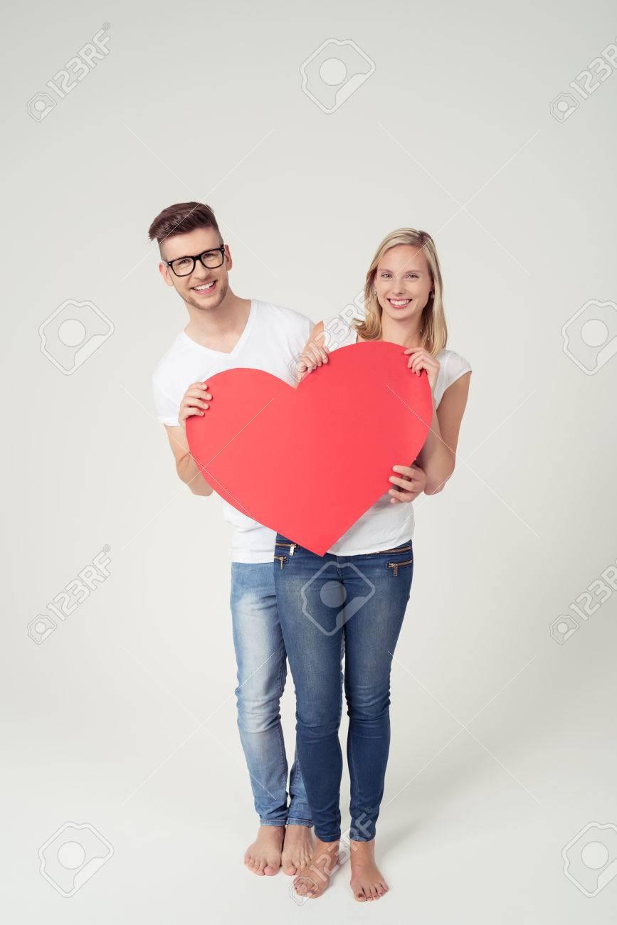 Encuadre De Cuerpo Entero Toma De Sweet Young Lovers Celebración De ...