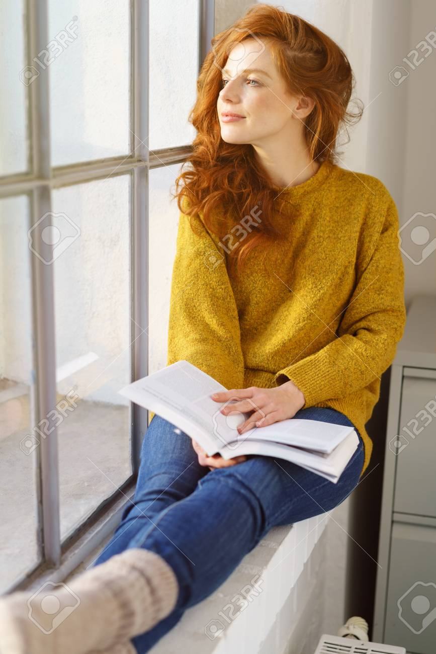 Redhead in socks