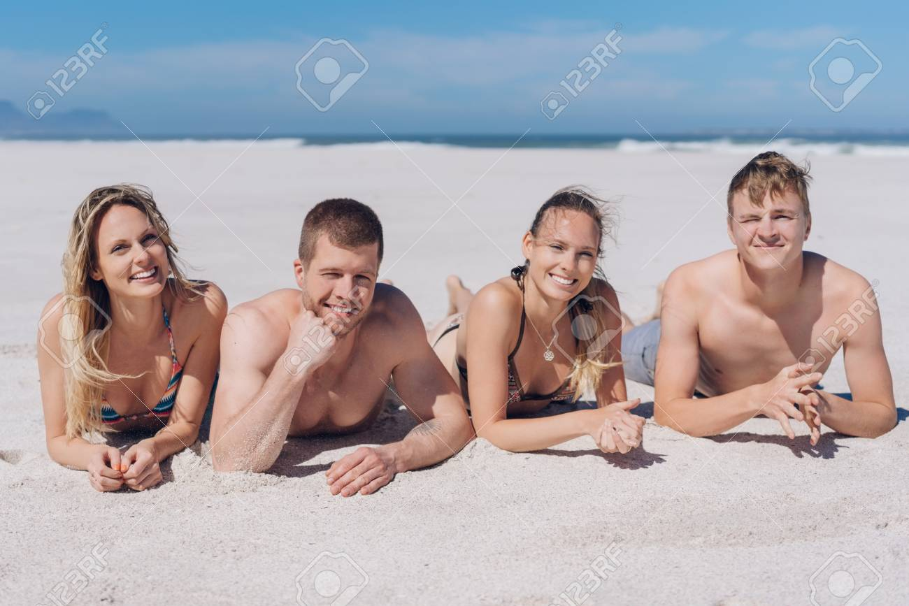 Sunbathing couples Nude Photos 40