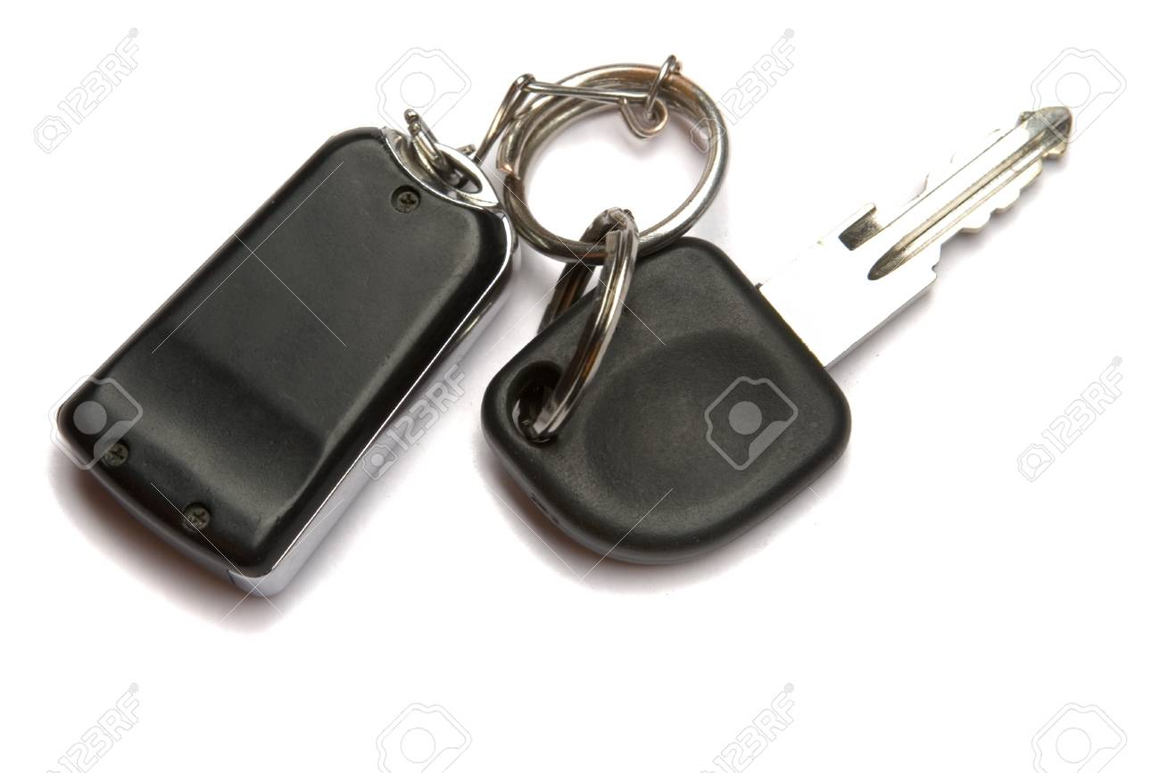 Car key and remote control on white ground Stock Photo - 4029790