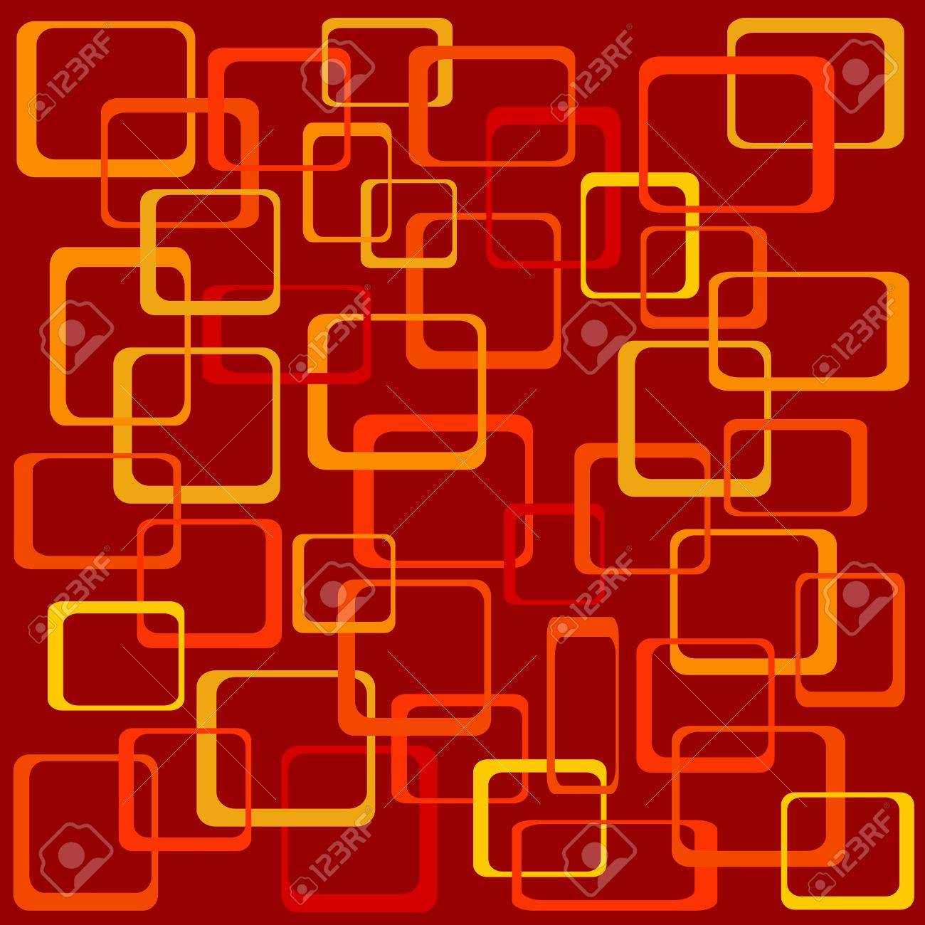 Funky Squares Vector Illustration - 8338039