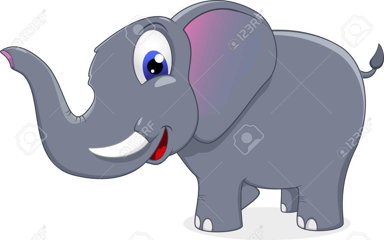 cute elephant standing Stock Vector - 17377467