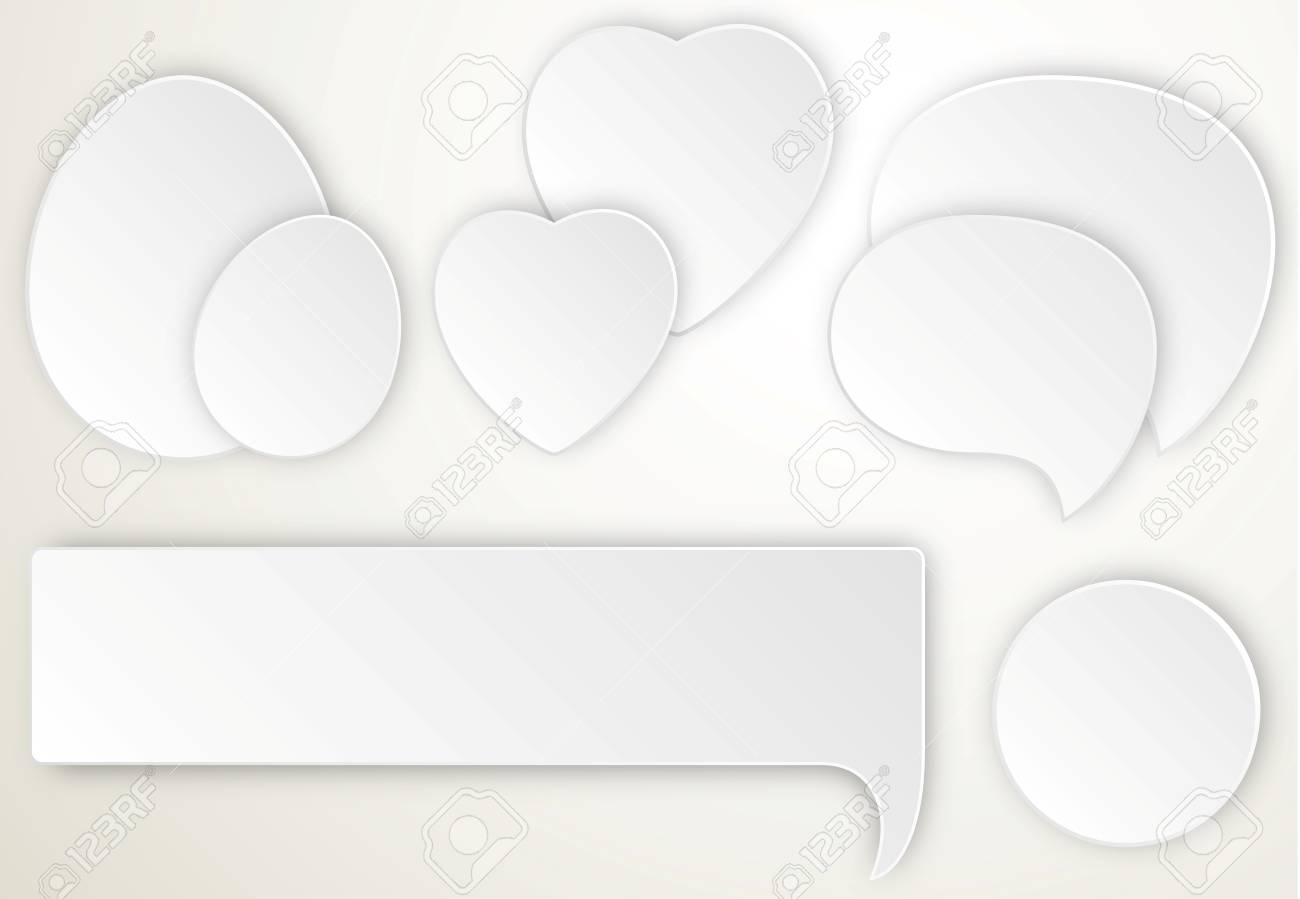 Speech Bubles With Calligraphic Banner Stock Vector - 17712364